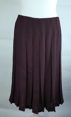 8d83b3e44 Ladies Reiss Burgundy Red Pleated Floaty Midi Skirt UK 14 Occasion Party  Evening