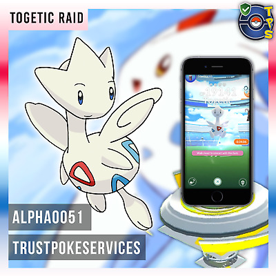 Pokemon GO GUARANTEED CAPTURE from Raids Togetic - Buy 3 get 1 Free! Safe!