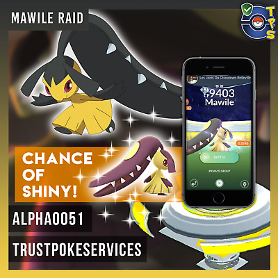 Pokemon GO GUARANTEED CAPTURE from Raids Mawile - Buy 3 get 1 Free! Safe!