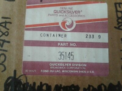 Mercury QuickSilver Container Assembly NOS Part 35145