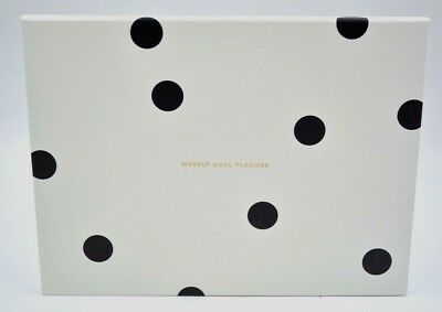 Kate Spade New York Black Dot Weekly Meal Planner 52 pages