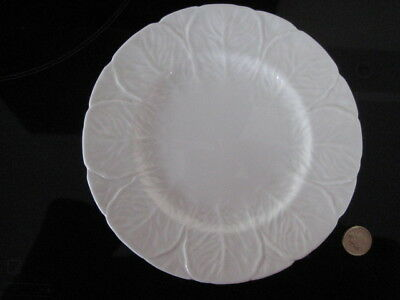 "Unused Coalport Countryware Salad Dessert 8""  Plate White Wedgwood Cabbage Leaf"
