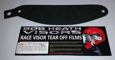 X Lite X802R,x601,x602 Visor Tear Offs,light Tint,bob Heath Visors,bhvtk10