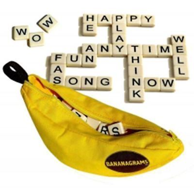 Game Educational Spelling Word Funny Travel Play Board Toys Puzzle Bananagrams