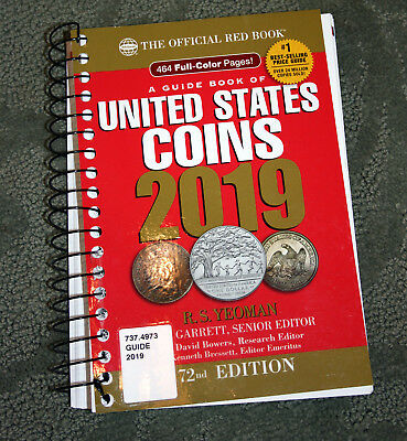 Red Book A Guide Book of United States Coins, 2019, R.S.Yeoman, 72nd Edition