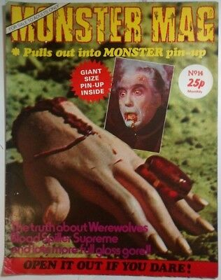 Monster Mag #14 - UK Horror magazine which opens up into a huge poster.