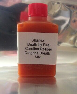 15ml Carolina Reaper Dragons Breath 'DEATH BY FIRE' Mix Shanez (Hot Sauce)Chilli