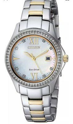 Citizen Women's Watch Eco Drive FE1144-85B Dual Tone 30mm Water Resistant SS NEW