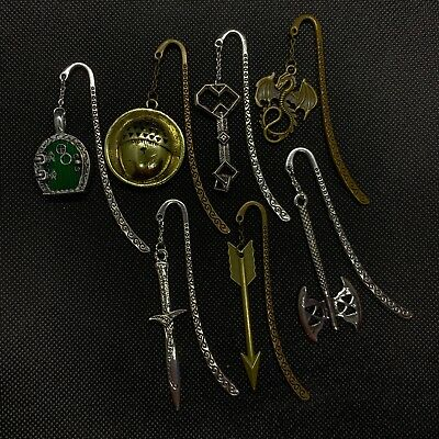 The Hobbit / Lord of the Rings LOTR -  Metal Charms Bookmark J R R Tolkien - NEW