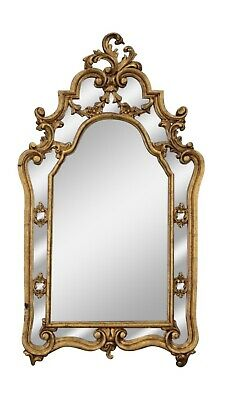 Italian Antique Carved Gilded Tall Mirror