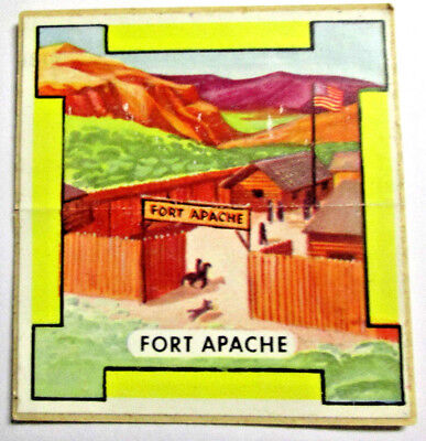 "Rare Vintage UNUSED ""FORT APACHE"" Nabisco Rin-Tin-Tin Patch Sticker Advertising"