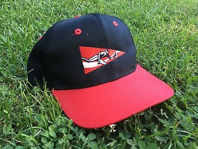 VTG Coca-Cola Baseball Flag Snapback Hat Embroidered Black Red 90s (OSFM) 15841769cd0c
