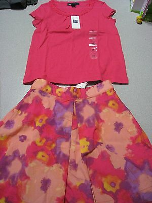 Nwt Baby Gap Kids Girls Party Outfits Floral Tulle Skirt & Top Size 4-5 4 5