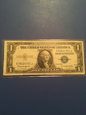 1935 H Silver Certificate One Dollar With Motto In God We Thust Rare
