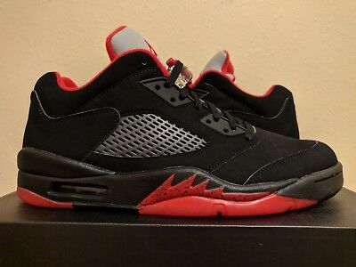 timeless design 68f62 93c75 Nike Air Jordan V 5 Retro Low Alternate 90 Black Red Silver (819171-001