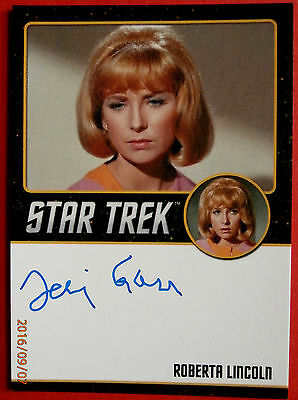 STAR TREK TOS 50th TERI GARR as Roberta EXTREMELY LIMITED (<200) Autograph Card