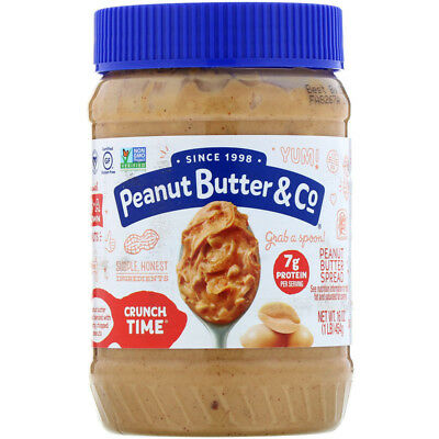 Peanut Butter & Co. Crunch Time Peanut Butter 454gr Free Delivery Eligible $75+
