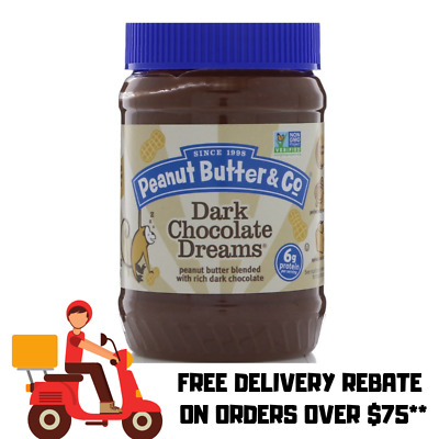 Peanut Butter & Co. Dark Chocolate Dreams Peanut Butter 454gr | Free Post $75+