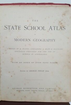 The State School Atlas for use in Australasian Schools - 1898