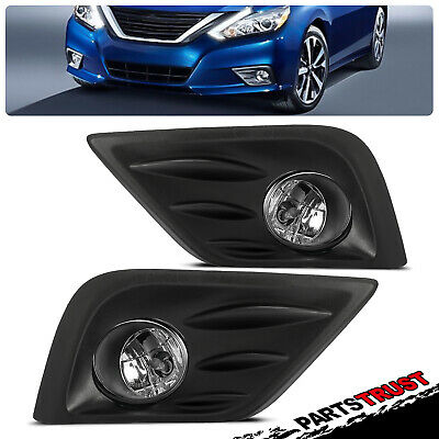 For 2016 2017 Nissan Altima Bumper Fog Lights Lamps+Switch+Bulbs+Wiring Harness