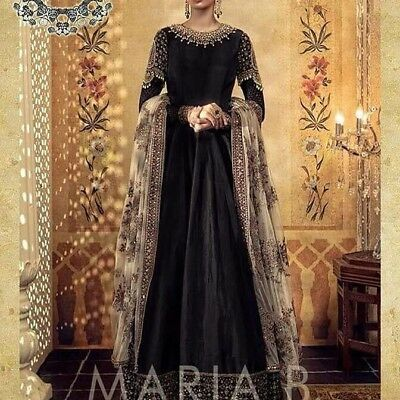 Maria B Pakistani Designer Shalwar Suit/Maxi Wedding Silk Collection. Unstitched