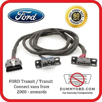 VAN SECURITY Ford Transit / Transit connect 2000 - on dummy OBD port relocation