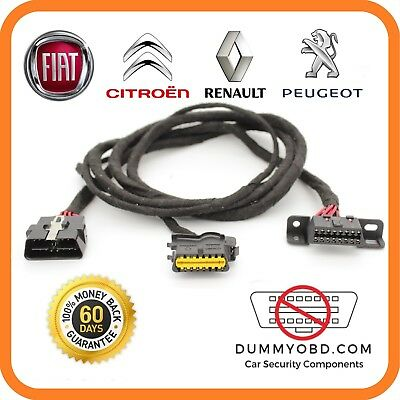 FIAT RENAULT ABARTH dummy OBD port relocation anti theft immo bypass security