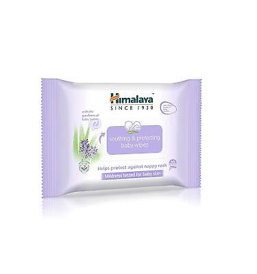 x60 wipes Himalaya Soothing Protecting Baby Wipes, protects against nappy rash