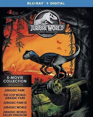 Jurassic World 5-Movie Collection(Blu-Ray+Digital)W/slipcover New