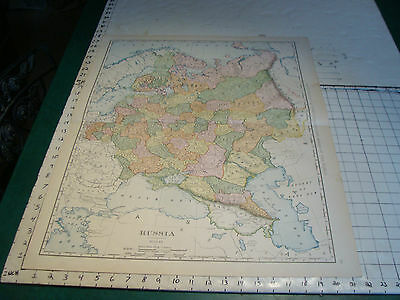 Vintage Original 1898 Rand McNally Map: RUSSIA aprox 28 x 21""