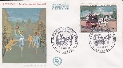 France 1967 Fdc Cart Of The Father Juniet Yt 1517