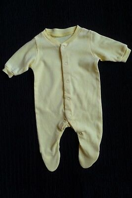 Baby clothes UNISEX BOY GIRL premature/tiny<8lb/3.6kg Lily & Dan yellow babygrow