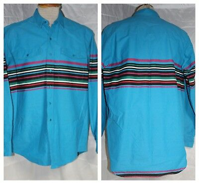 Vintage Frontier Series Men's Long Sleeve Western Shirt size LT Made in USA!!