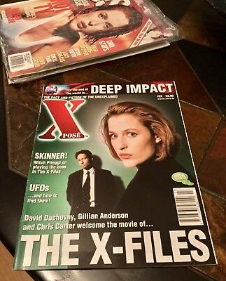 X-Pose Magazine. June 1998. Issue 23. Sci-Fi Mag. X Files Cover.