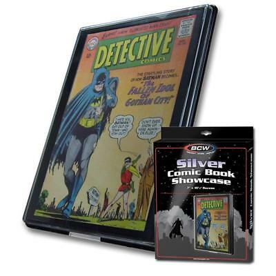 5 BCW Silver Comic Book Showcases Wall Mountable Display Frame