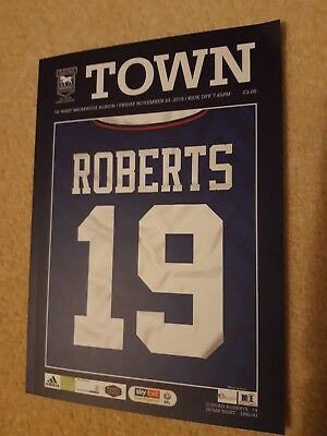 Ipswich Town v West Bromwich Albion Football Programme 2018/2019.