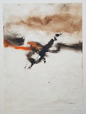 PHILIPPE BECKER ETUDE TECHNIQUE MIXTE ABSTRACT  29/41cm  drawing signed signée