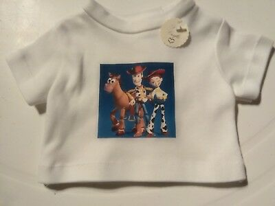 """White T Shirt Toy Story fits 18"""" dolls Our Generation, Designer Friend, Sindy AG"""