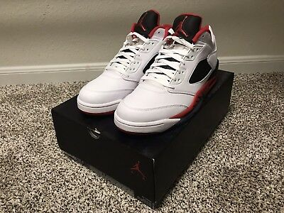 d4100d31f962f6 AIR JORDAN 5 V Retro Low GS  Alternate 90  Black Gym Red Black ...
