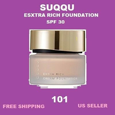 Suqqu Extra Rich Glow Cream Foundation 101 SPF30 30grams~US Seller~Free gift!