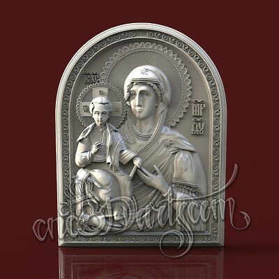 3D Model STL CNC Router Artcam Aspire Mother God Virgin Religion Cut3D Vcarve