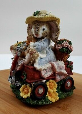The Brownstone Bunnies Springtime Ride Easter Music Box #840583 Tune Memory 1995