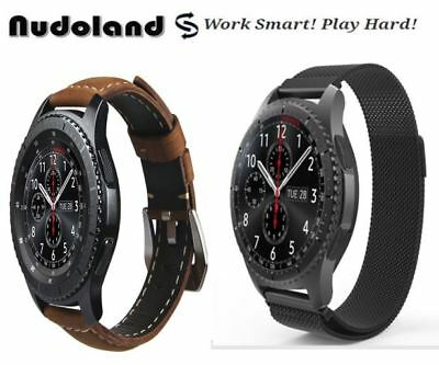 Samsung S3 Frontier Replacement Band:Genuine Leather + Stainless Steel Clearance