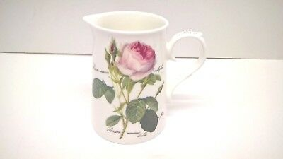 "Roy Kirkham "" Redoute' Roses "" Fine Bone China - Milk / Water Jug."