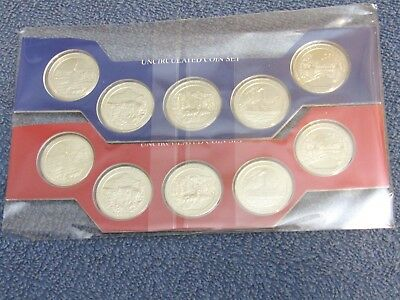 2011 P D uncirculated set of 10 US MINT CELLO P&D America The Beautiful Quarter