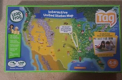 Leapfrog Interactive United States Map.Leapfrog Tag Interactive United States Map 2 Sided Jumbo Size 35 X
