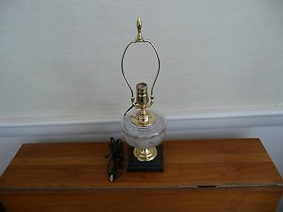 Antique Victorian/Arts & Crafts Electrified Oil Lamp