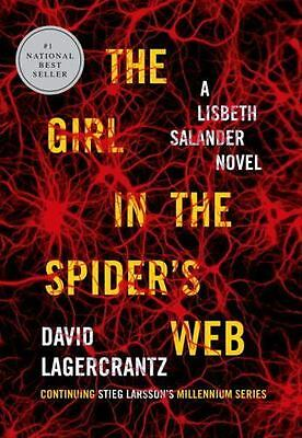 THE GIRL IN THE SPIDERS WEB: HARDCOVER VG MOVIE TIE IN Stieg Larsson FREE SH
