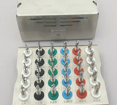 Dental Implant Conical Drills Kit with Stopper Set of 30 PCs/ Implant Kit 11