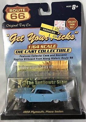 1959 Plymouth Plaza Sedan - Kansas - Route 66 Die Cast Collectible 1/64 Scale